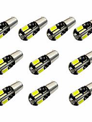 10PCS H6W BAX9S CANBUS 8SMD 5730 Decode Indicator Light Lamp Light Reading Light DC12V White