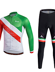cheap -Miloto Men's Long Sleeves Cycling Jersey with Tights - Red Bike Clothing Suits Polyester Lycra
