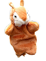 cheap -Finger Puppets Puppets Toys Squirrel Cute Animals Lovely Plush Fabric Plush Kid Pieces
