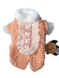 preiswerte -Hund Pullover Hundekleidung Niedlich Lässig/Alltäglich Britisch Orange Grün Kostüm Für Haustiere