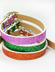Cute Fashion PU Cat Dog Collar Reflective Pet Collars Dog Harness Pet Product Beautiful Christmas Accessories