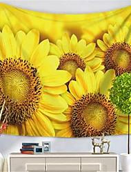 Недорогие -Цветы Декор стены Полиэфир/полиамид Классика Предметы искусства, Стена Гобелены Украшение