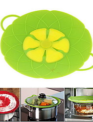 10.2 Inch Silicone Lid Stopper for Pan Flower Shape Cooking Tools Color Random