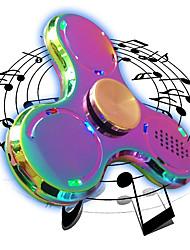 Trottole Spinner mano Giocattoli Tri-Spinner Spinner del LED Metallo EDC Altoparlante Bluetooth Stress e ansia di soccorso Giocattoli per