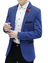 Men's Casual/Daily Work Party Vintage Casual Street chic Spring Fall Blazer