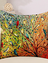 cheap -1 Pcs Colorful Tree Of Life Birds Pillow Cover Square Sofa Cushion Cover Cotton/Linen Pillow Case