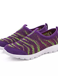 Damen Loafers & Slip-Ons Komfort PU Frühling Herbst Sportlich Walking Komfort Kombination Flacher Absatz Grau Purpur Pfirsich 5 - 7 cm