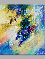 cheap -Abstract Oil Painting Two Birds Rest on  Beautiful Branch Framed Handmade Oil Painting For Home Decoration