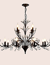 cheap -LightMyself 12 Lights Crystal Chandelier Modern/Contemporary Traditional/Classic Tiffany Vintage Retro Country Painting Feature for Living Room
