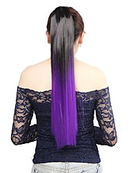 cheap -Straight Ponytails Hair Piece Hair Extension 22 inch Purple