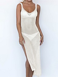 cheap -Women's Bandeau Cover-Up Mesh Polyester Embroidery