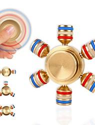 abordables -Toupies Fidget Spinner à main Toupies Phosphorescent Fluorescent Ring Spinner Métal Pièces Adulte Cadeau