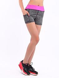 baratos -Mulheres Shorts de Corrida - Amarelo, Fúcsia, Vermelho Esportes Moderno Shorts / Leggings Roupas Esportivas Com Stretch