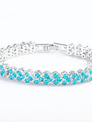 billige -Dame Kæde & Lænkearmbånd - Krystal Vintage, Natur, Mode Armbånd Lys Lilla / Blå / Lys pink Til Bryllup Fest Jubilæum