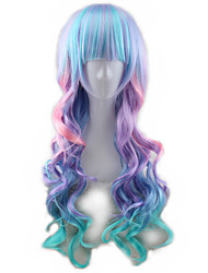 cheap -Synthetic Hair Wigs Wavy Capless Cosplay Wig Long