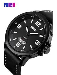 Men's Dress Watch Fashion Watch Wrist watch Chinese Quartz Calendar Large Dial Genuine Leather Band Charm Cool Unique Creative Elegant