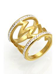 Men's Women's Band Rings Statement Rings Ring AAA Cubic Zirconia Circular Unique Design Geometric Fashion Vintage Punk Inspirational