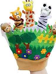 Bonecas Fantoche de Dedo Brinquedos Rabbit Animal Animais Criança Peças