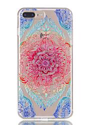 Per la cassa del telefono del rilievo di modello dei fiori del merletto del iphone 7plus 7 tpu 6s più 6plus 6s 6 se 5s 5