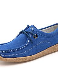 Damen Loafers & Slip-Ons Komfort Leder Sommer Herbst Lässig/Alltäglich Komfort Niedriger Absatz Purpur Gelb Blau 2,5 - 4,5 cm