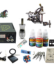 Begginer Tattoo Kit 1 Machine With Digital Power Cord Inks Switch G1C15A3