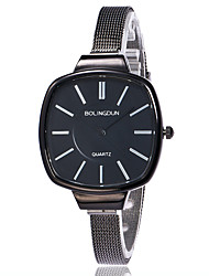 cheap -XU Ladies' Quartz Alloy Mesh Belt Contracted Thin Strap Square Dress Watch