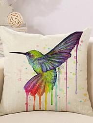 cheap -1 Pcs 3D Colorful Bird Printing Pillow Cover Creative Cotton/Linen Pillow Case Home Decor
