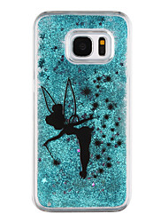 cheap -For Samsung Galaxy S8 Plus S8 Phone Case Butterfly Elves Pattern Flowing Quicksand Liquid Glitter Plastic PC Materia S7 edge S7