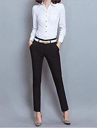 Women's OL Slim Trousers Solid Business Long Pants for Female