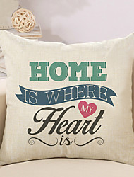 cheap -1 pcs Cotton / Linen Pillow Cover / Pillow Case, Quotes & Sayings / Fashion / Letter Retro / Traditional / Classic / Euro