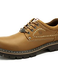 Camel Men's Cow Leather Lace-up Reliable Work Shoes Color Khaki/Earth Yellow