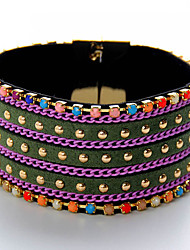 cheap -Men's Bangles Jewelry Fashion Punk Leather Alloy Round Jewelry For Special Occasion Sports 1pc