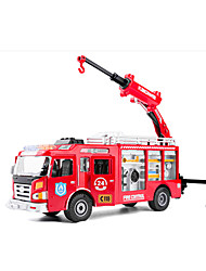 cheap -KDW Toy Cars Pull Back Vehicles Construction Vehicle Farm Vehicle Fire Engine Vehicle Toys Car Fire Engines Metal Alloy Pieces Unisex Gift