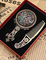 Charms Mirror Pendant Antique bronze Fit Bracelets Necklace DIY Metal Jewelry Making(Random style)