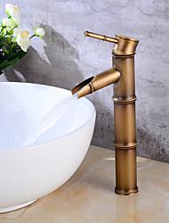 Moderne Set de centre Soupape céramique Mitigeur un trou for  Cuivre antique , Robinet lavabo