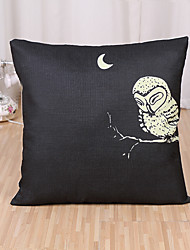 cheap -1 Pcs Night Lonely Owl Printing Pillow Cover Simple Cotton/Linen Pillow Case