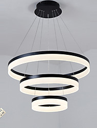 cheap -Modern Acrylic LED Droplight Stepless Dimming Fashionable Living Room The Study Pendant Lamp Three Round 20cm 40cm 60cm