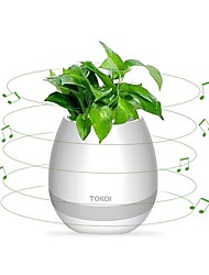 cheap -Flowerpot Speaker Wireless Bluetooth 4.0, LED Mood light, Piano Desktop Audio Speaker