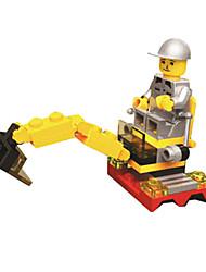 cheap -Building Blocks Excavator Toys Tank Excavating Machinery Plastics Unisex Boys Pieces
