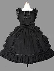 cheap -Gothic Lolita Dress Princess Punk Women's Girls' One Piece Dress Cosplay Cap Sleeveless Short / Mini