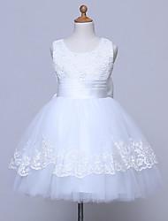 A-Line Knee Length Flower Girl Dress Sleeveless Scoop Neck by likestar