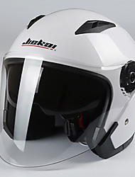 cheap -JieKai motorcycle helmet unisex Scooter motos helmets Casco Capacete with dual lens