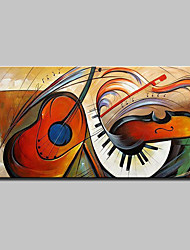 cheap -Large Hand-Painted Modern Abstract Musical Instrument Oil Painting On Canvas Wall Art Pictures For Home Decoration Ready To Hang