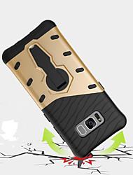 preiswerte -Hülle Für Samsung Galaxy S8 Plus S8 Stoßresistent mit Halterung 360° Drehbar Rückseite Rüstung Hart PC für S8 Plus S8 S7 edge S7 S6 edge