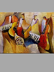 cheap -Hand-Painted Abstract instrument Oil Painting For Home Decoration With Stretcher Frame Ready To Hang