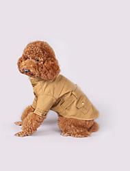 economico -Cane Cappottini Abbigliamento per cani Casual Solidi Verde cacciatore Cachi Costume Per animali domestici