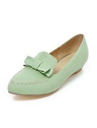 baratos -Mulheres Sapatos Courino / Couro Ecológico Primavera / Verão Conforto / Inovador Saltos Caminhada Salto Plataforma Ponta Redonda Laço