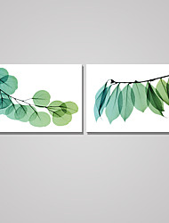 Stretched Canvas Print Floral/Botanical Modern,Three Panels Vertical Print Wall Decor For Home Decoration