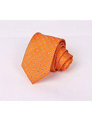 cheap -Silk tie men's orange European and American cashew nuts business suit leisure silk tie