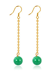 cheap -Women's Ball Jade Drop Earrings - Circular / Unique Design / Dangling Style Gold Round Earrings For Wedding / Birthday / Gift